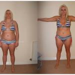 blonde weight loss before after