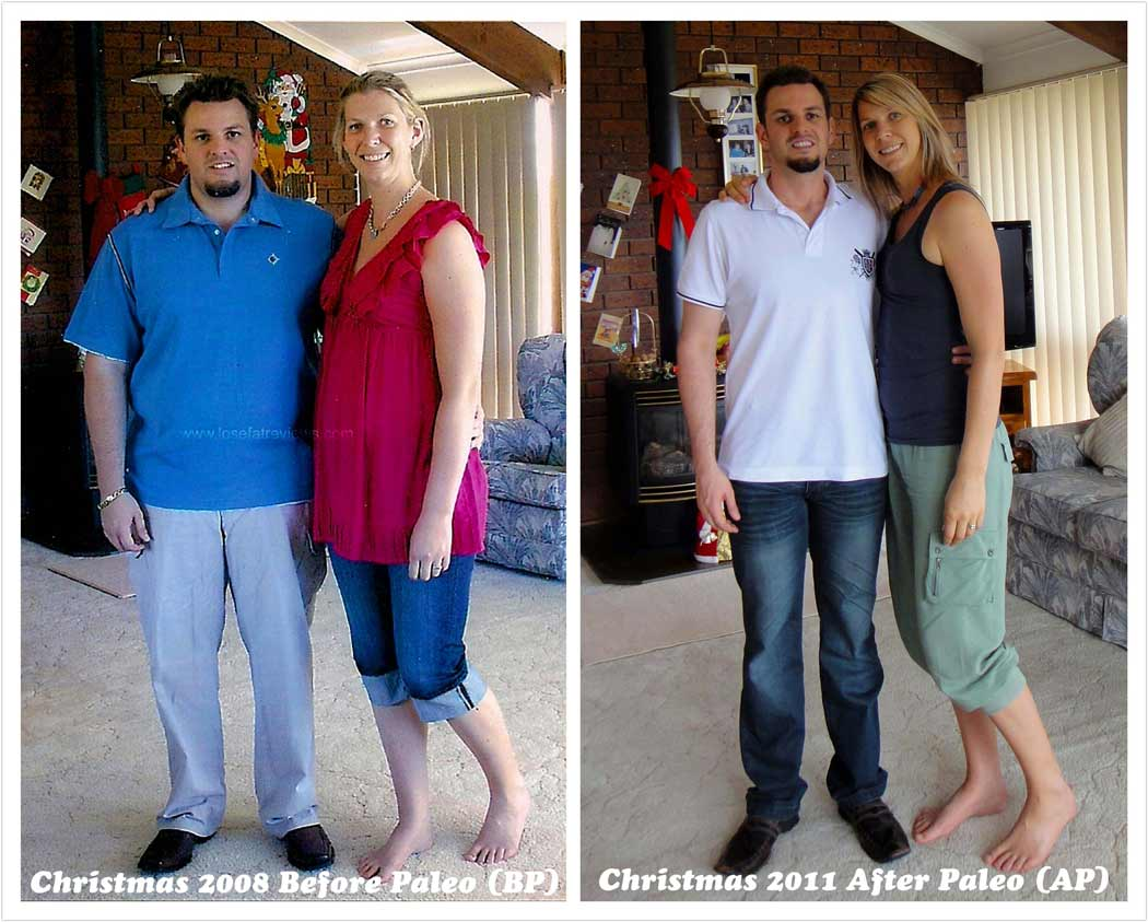 Family weight loss before and after picture