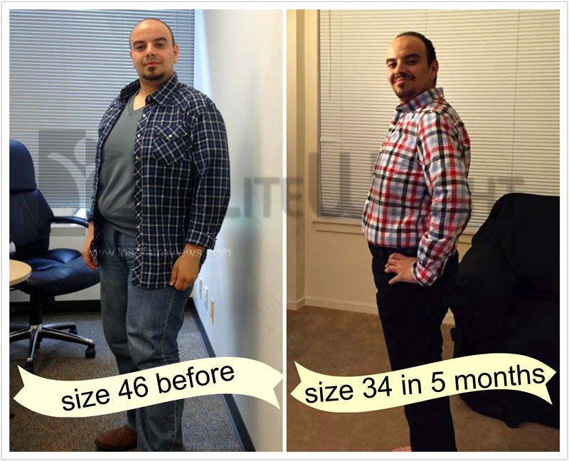 From size 46 to 34